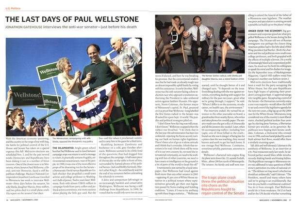Article Preview: THE LAST DAYS OF PAUL WELLSTONE, November 2002 | Maclean's