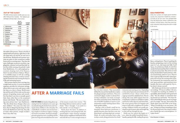 Article Preview: AFTER A MARRIAGE FAILS, November 2002 | Maclean's