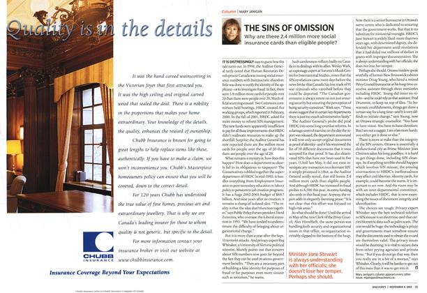 Article Preview: THE SINS OF OMISSION, November 2002 | Maclean's