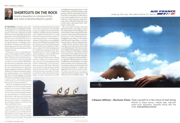 Article Preview: SHORTCUTS ON THE ROCK, November 2002 | Maclean's