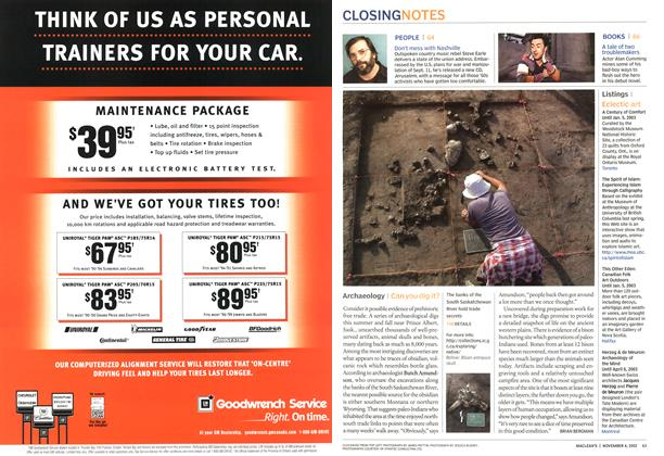 Article Preview: Archaeology, November 2002   Maclean's