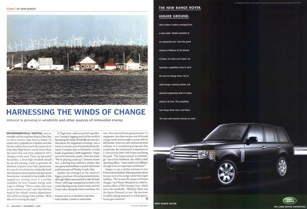 Article Preview: HARNESSING THE WINDS OF CHANGE, November 2002 | Maclean's