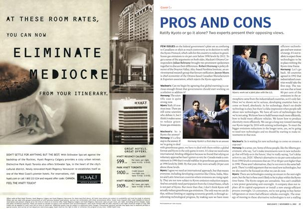 Article Preview: PROS AND CONS, November 2002 | Maclean's