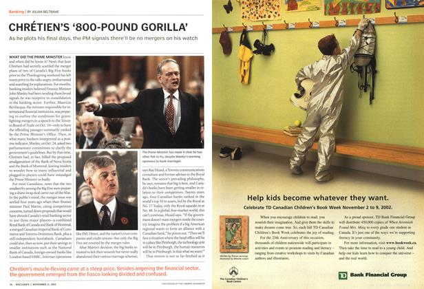 Article Preview: CHRÉTIEN'S '800-POUND GORILLA', November 2002 | Maclean's