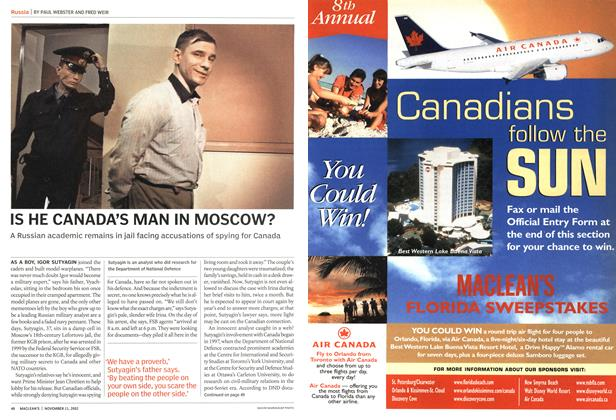 Article Preview: IS HE CANADA'S MAN IN MOSCOW?, November 2002 | Maclean's