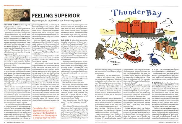 Article Preview: FEELING SUPERIOR, November 2002 | Maclean's
