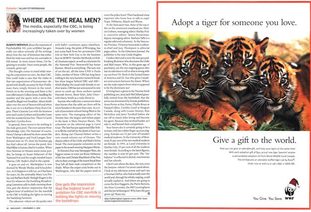 Article Preview: WHERE ARE THE REAL MEN?, November 2002 | Maclean's