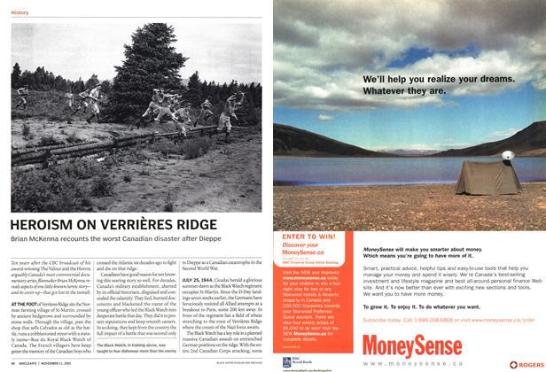 Article Preview: HEROISM ON VERRIERES RIDGE, November 2002 | Maclean's