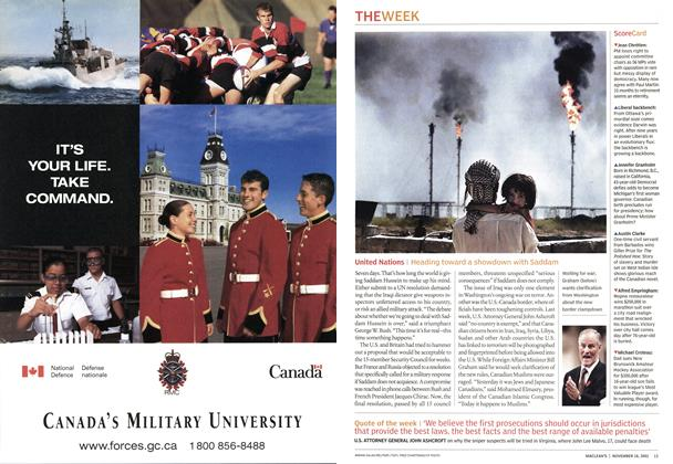 Article Preview: United Nations, November 2002 | Maclean's