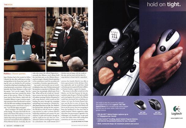 Article Preview: Politics, November 2002   Maclean's