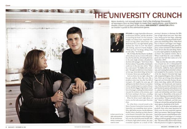 Article Preview: THE UNIVERSITY CRUNCH, November 2002 | Maclean's