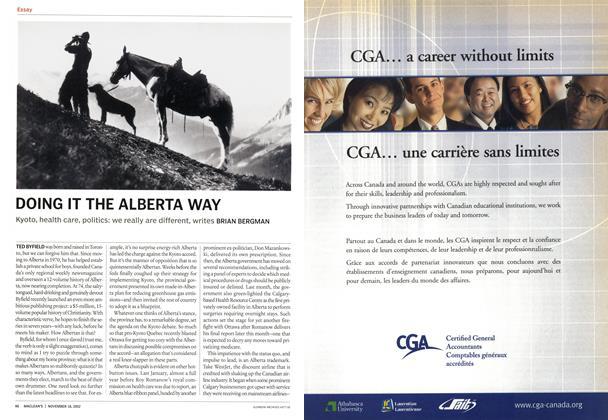 Article Preview: DOING IT THE ALBERTA WAY, November 2002 | Maclean's