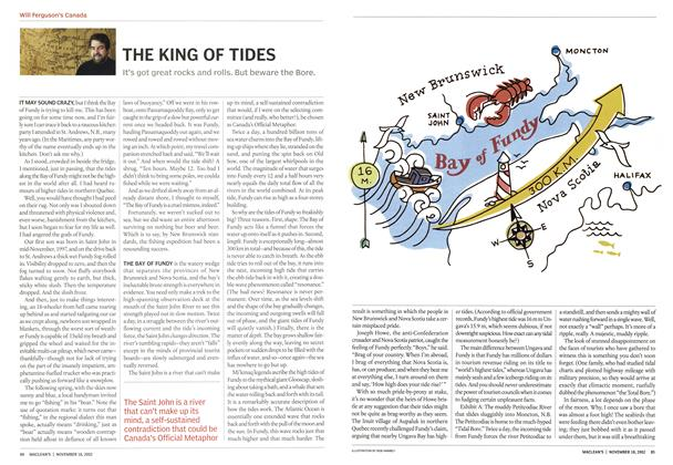 Article Preview: THE KING OF TIDES, November 2002 | Maclean's