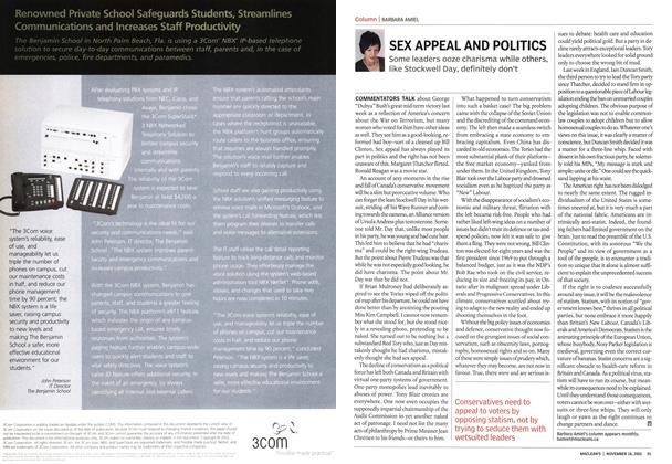 Article Preview: SEX APPEAL AND POLITICS, November 2002 | Maclean's