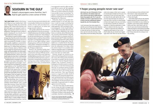 Article Preview: 'I hope young people never see war', November 2002 | Maclean's