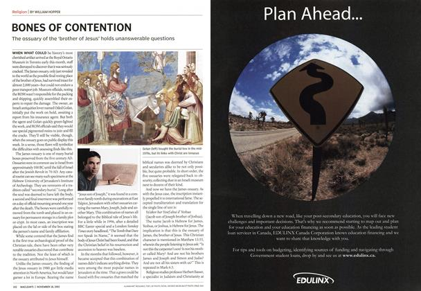 Article Preview: BONES OF CONTENTION, November 2002 | Maclean's