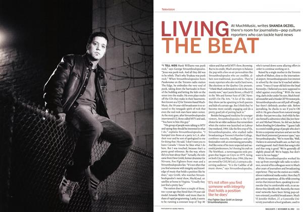 Article Preview: LIVING THE BEAT, November 2002 | Maclean's