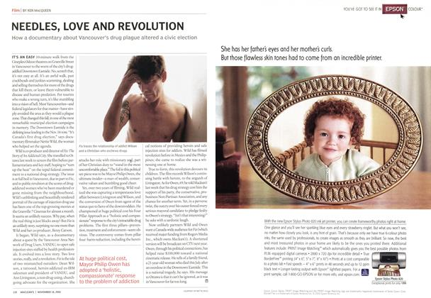 Article Preview: NEEDLES, LOVE AND REVOLUTION, November 2002 | Maclean's