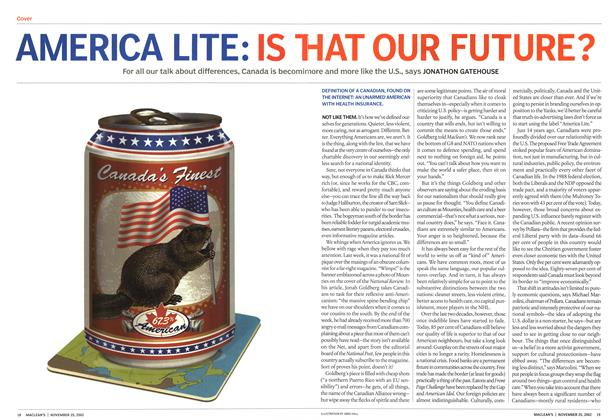Article Preview: AMERICA LITE: IS THAT OUR FUTURE?, November 2002 | Maclean's