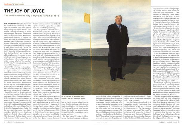 Article Preview: THE JOY OF JOYCE, November 2002 | Maclean's