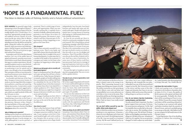 Article Preview: 'HOPE IS A FUNDAMENTAL FUEL', November 2002 | Maclean's