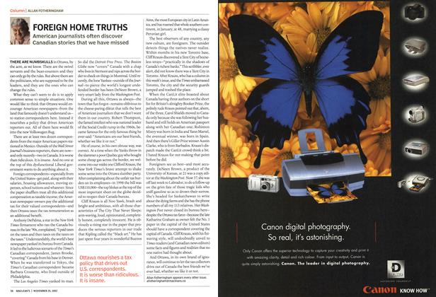 Article Preview: FOREIGN HOME TRUTHS, November 2002 | Maclean's