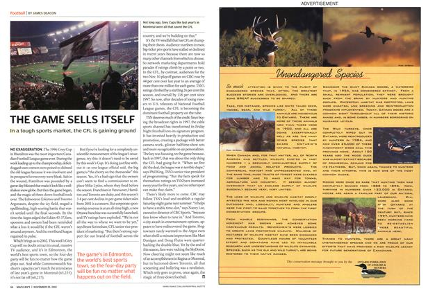 Article Preview: THE GAME SELLS ITSELF, November 2002 | Maclean's