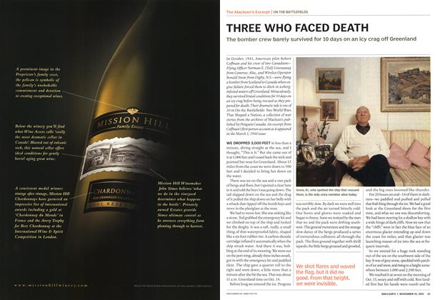 Article Preview: THREE WHO FACED DEATH, November 2002 | Maclean's