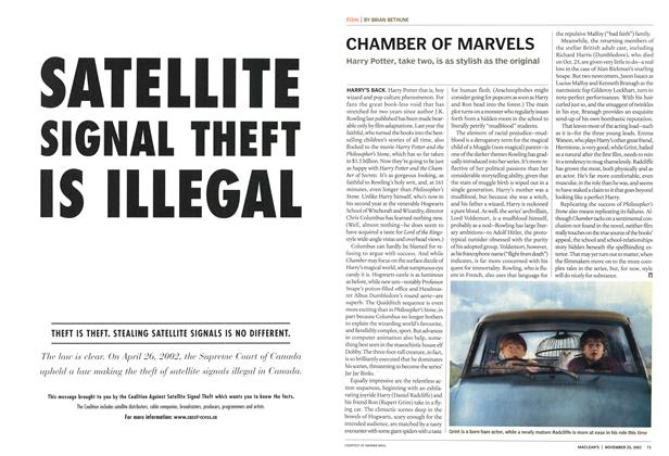 Article Preview: CHAMBER OF MARVELS, November 2002 | Maclean's