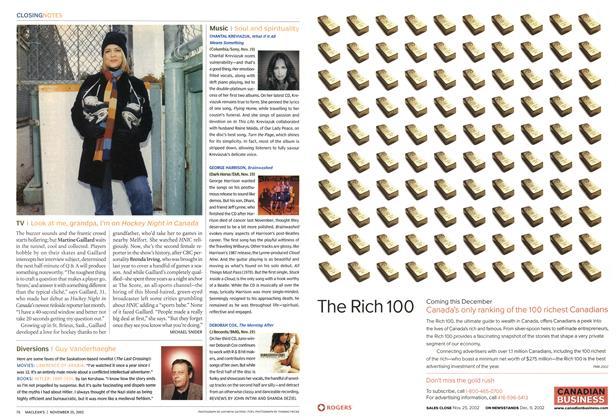 Article Preview: TV, November 2002 | Maclean's