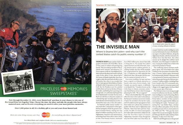 Article Preview: THE INVISIBLE MAN, December 2002 | Maclean's