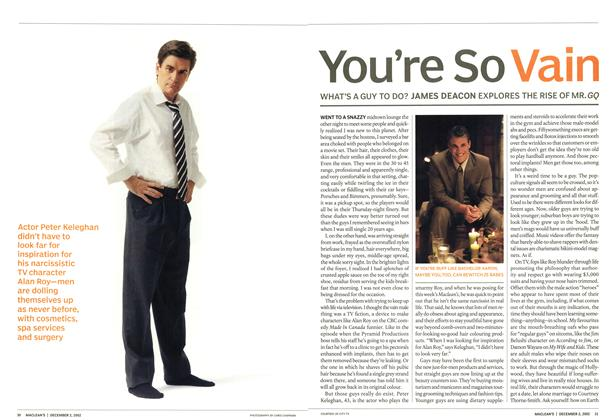 Article Preview: You're So Vain, December 2002 | Maclean's