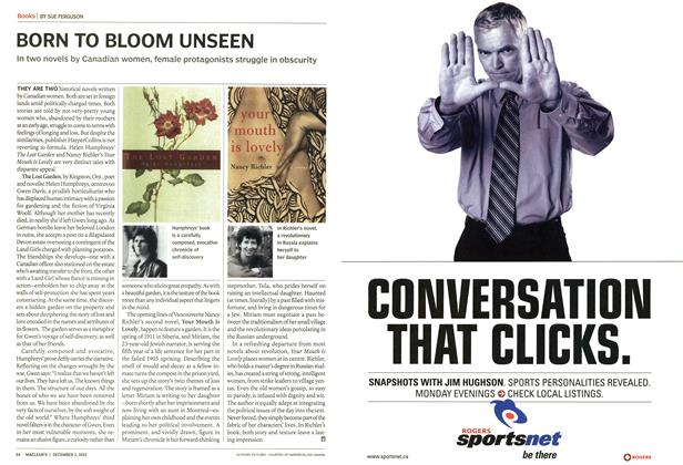 Article Preview: BORN TO BLOOM UNSEEN, December 2002 | Maclean's