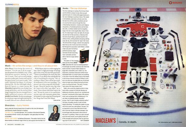 Article Preview: Music, December 2002 | Maclean's