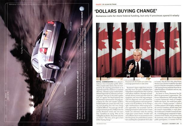 Article Preview: 'DOLLARS BUYING CHANGE', December 2002 | Maclean's