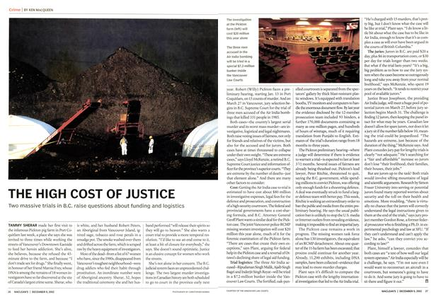 Article Preview: THE HIGH COST OF JUSTICE, December 2002 | Maclean's