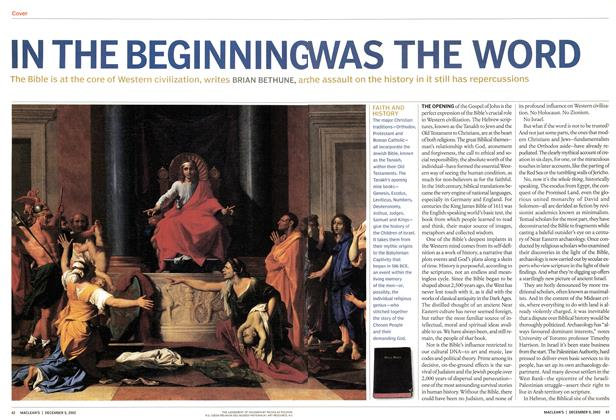 Article Preview: IN THE BEGINNING WAS THE WORD, December 2002 | Maclean's
