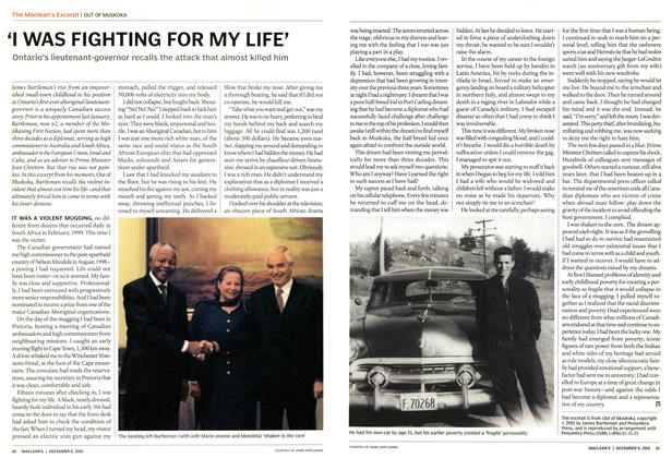 Article Preview: 'I WAS FIGHTING FOR MY LIFE', December 2002 | Maclean's