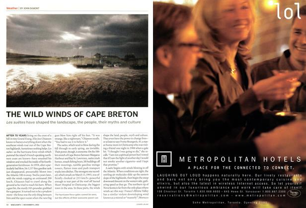 Article Preview: THE WILD WINDS OF CAPE BRETON, December 2002 | Maclean's