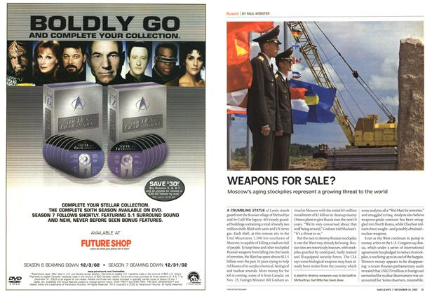 Article Preview: WEAPONS FOR SALE?, December 2002 | Maclean's