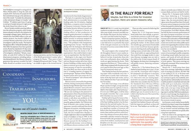 Article Preview: IS THE RALLY FOR REAL?, December 2002 | Maclean's