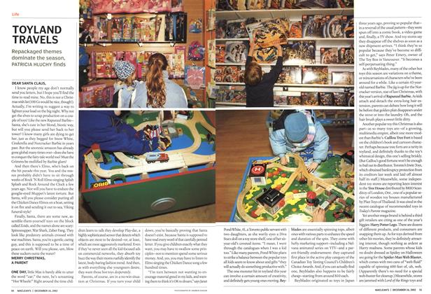 Article Preview: TOYLAND TRAVELS, December 2002 | Maclean's