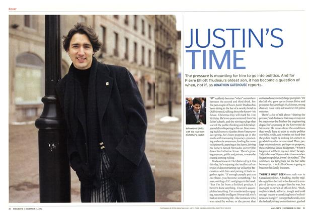 Article Preview: JUSTIN'S TIME, December 2002 | Maclean's