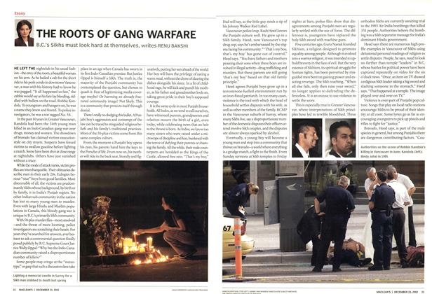 Article Preview: THE ROOTS OF GANG WARFARE, December 2002 | Maclean's