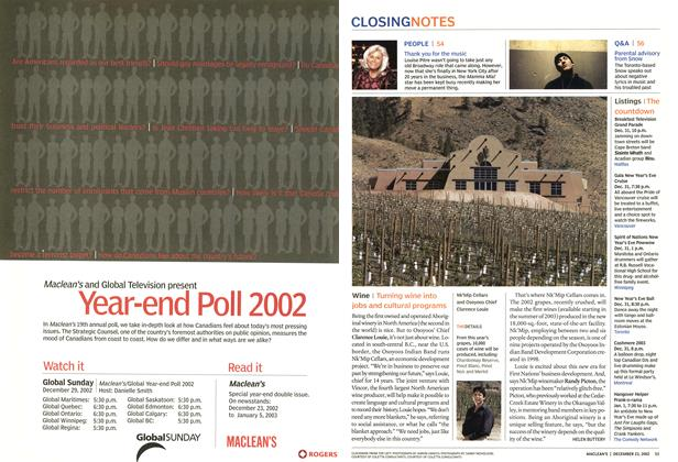 Article Preview: Wine, December 2002 | Maclean's