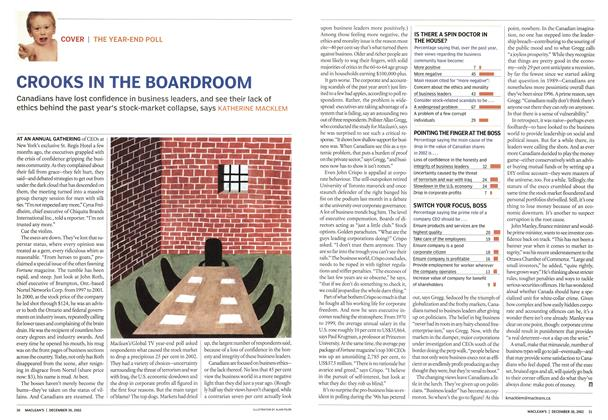 Article Preview: CROOKS IN THE BOARDROOM, December 2002 | Maclean's