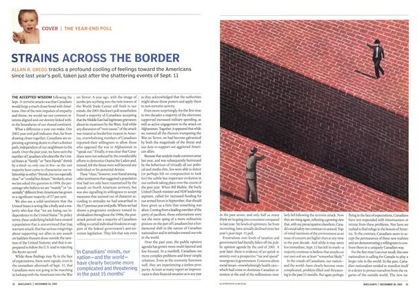 Article Preview: STRAINS ACROSS THE BORDER, December 2002 | Maclean's