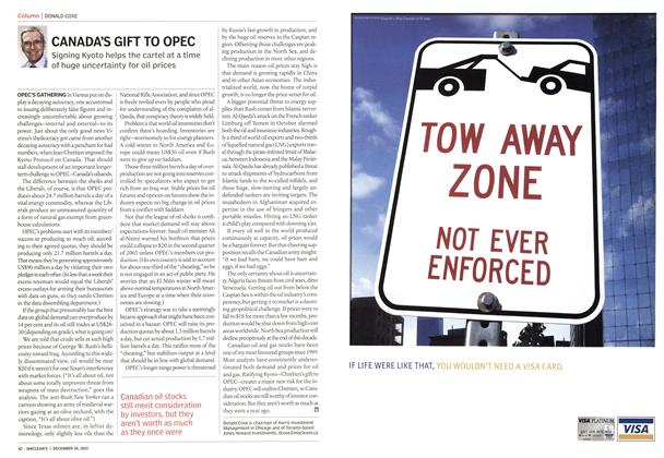 Article Preview: CANADA'S GIFT TO OPEC, December 2002 | Maclean's