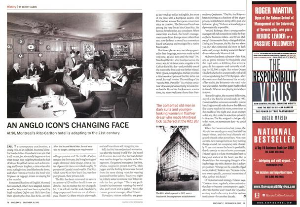 Article Preview: AN ANGLO ICON'S CHANGING FACE, December 2002 | Maclean's