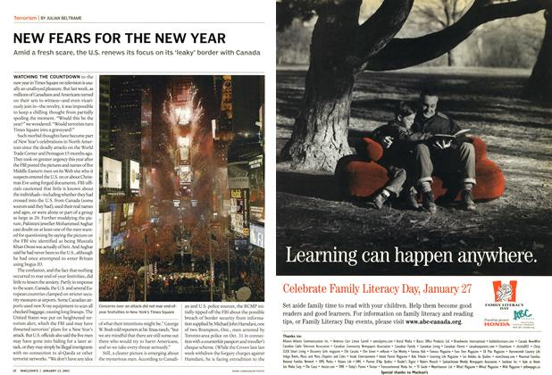 Article Preview: NEW FEARS FOR THE NEW YEAR, January 2003 | Maclean's
